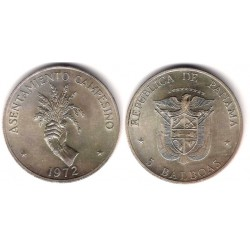 (30) Panamá. 1972. 5 Balbao (SC) (Plata)