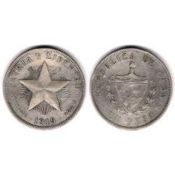 (15.2) Cuba. 1915. 1 Peso (MBC) (Plata)