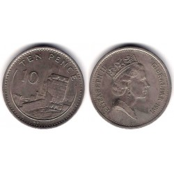 (23.1) Gibraltar. 1991. 10 Pence (MBC+)