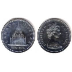 (106) Canadá. 1976. 1 Dollar (Proof) (Plata)