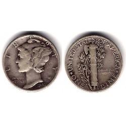 (140) Estados Unidos de América. 1943. 1 Dime (MBC) (Plata)