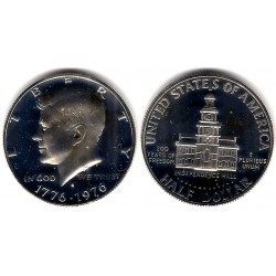 (205a) Estados Unidos de América. 1976(S). Half Dollar (Proof) (Plata)