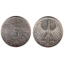 (112.1) Alemania. 1972(G). 5 Mark (MBC) (Plata)