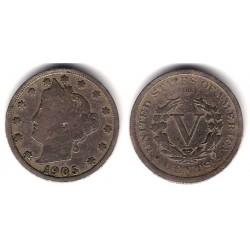 (112) Estados Unidos de América. 1905. 5 Cents (BC)