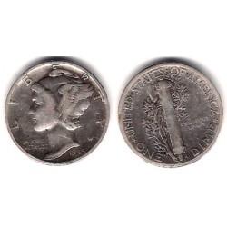 (140) Estados Unidos de América. 1945. 1 Dime (MBC) (Plata)