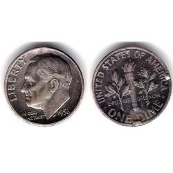 (195) Estados Unidos de América. 1956. 1 Dime (MBC+) (Plata)