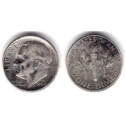 (195) Estados Unidos de América. 1964(D). 1 Dime (EBC) (Plata)