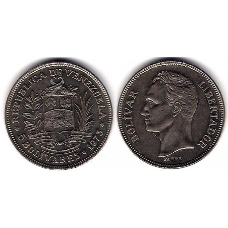 (Y44) Venezuela. 1973. 5 Bolivares (MBC)