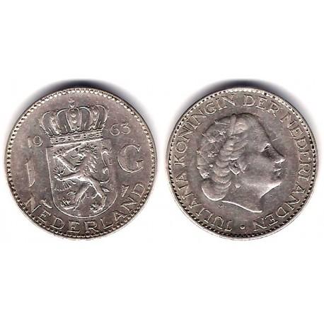 (184) Países Bajos. 1963. 1 Gulden (MBC) (Plata)