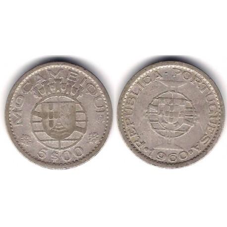 (84) Mozambique. 1960. 5 Escudos (BC) (Plata)