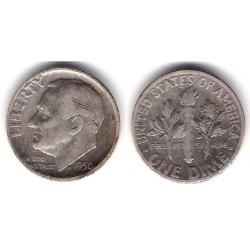 (195) Estados Unidos de América. 1950. 1 Dime (MBC-) (Plata)