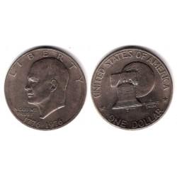 (206) Estados Unidos de América. 1976. 1 Dollar (MBC)