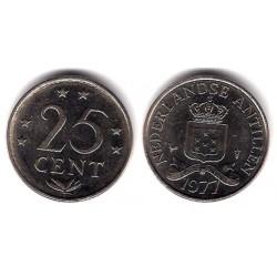 (11) Antillas Neerlandesas. 1977. 25 Cents (EBC)