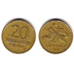 (107) Lituania. 1999. 20 Centu (BC)
