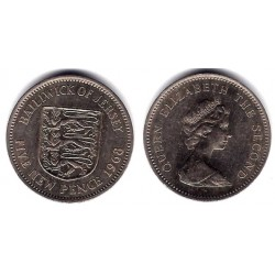 (33) Jersey. 1968. 5  New Pence (MBC)
