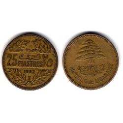 (16.1) Líbano. 1952. 25 Piastres (MBC+)