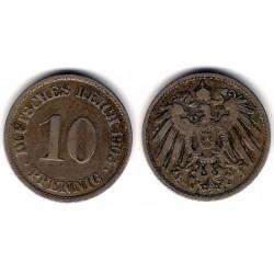 (12) Imperio Alemán. 1905(A). 10 Pfennig (BC)