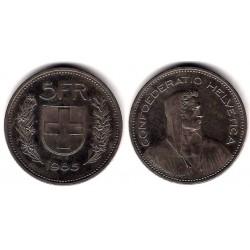 (40a.3) Suiza. 1985. 5 Francs (MBC)