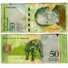(92d) Venezuela. 2009. 50 Bolivares (BC+) Manchado