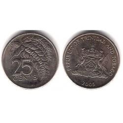 (32) Trinidad y Tobago. 2005. 25 Cents (EBC+)