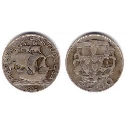 (581) Portugal. 1946. 5 Escudos (BC) (Plata)