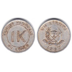 (8) Congo. 1967. 1 Likuta (RC+)