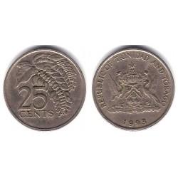 (32) Trinidad y Tobago. 1993. 25 Cents (BC)