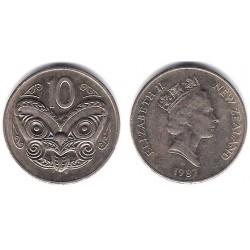 (61) Nueva Zelanda. 1987. 10 Cents (EBC-)