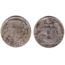(581) Portugal. 1940. 5 Escudos (BC) (Plata)