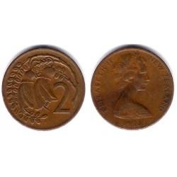 (32.1) Nueva Zelanda. 1973. 2 Cents (BC+)