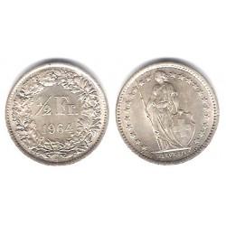 (23) Suiza. 1964(B). ½ Franc (EBC) (Plata)