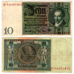 (180) Imperio Alemán (Weimar). 1929. 10 Mark (MBC)