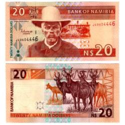 (6a) Namibia. Sin Fecha. 20 Dollars (SC)