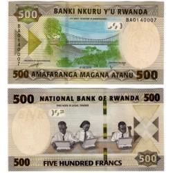 Ruanda. 2019. 500 Francs (SC)