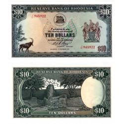 (33i) Rhodesia. 1975. 10 Dollars (SC)