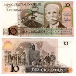 (209b) Brasil. 1986-87. 10 Cruzados (SC)