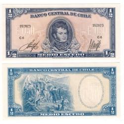 (134Aa) Chile. Sin Fecha. ½ Escudo (SC)