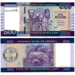 (36) Liberia. 2017. 500 Dollars (SC)