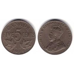 (29) Canadá. 1929. 5 Cents (MBC+)
