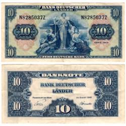 (16a) Alemania. 1949. 10 Mark (MBC)