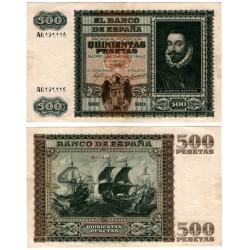 Estado Español. 1940. 500 Pesetas (MBC) Serie A. Manchas