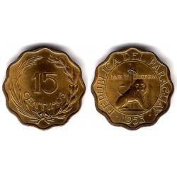 (26) Paraguay. 1953. 15 Céntimos (SC)