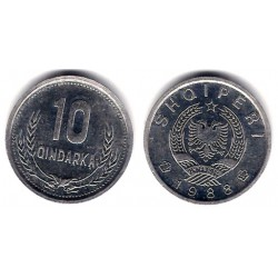 (60) Albania. 1988. 10 Qindarka (SC)