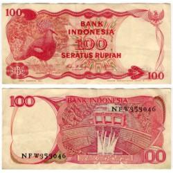 (122) Indonesia. 1984. 100 Rupiah (EBC-)