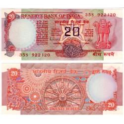 (82h) India. 1970-2002. 20 Rupees (SC-)