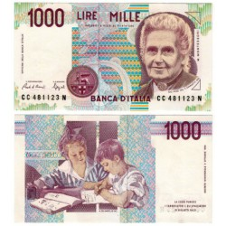 (114a) Italia. 1990. 1000 Lira (SC)