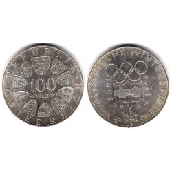 Austria. 1974. 100 Schilling (EBC) (Plata)