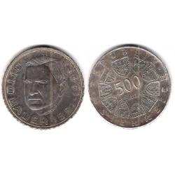 (2953) Austria. 1981. 500 Schilling (MBC+) (Plata)