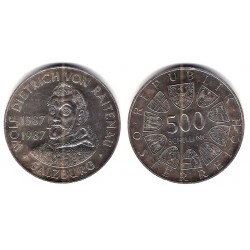 (2982) Austria. 1987. 500 Schilling (EBC) (Plata)