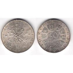(2919) Austria. 1974. 50 Schilling (EBC+) (Plata)